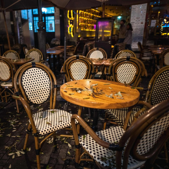 Terasa zatvorenog restorana u centru Beograda