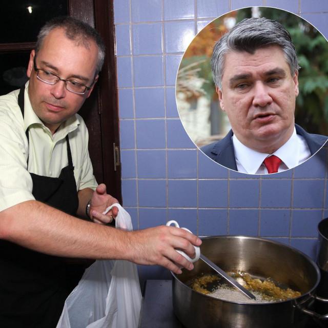 Neven Pelicarić; u krugu: Zoran Milanović