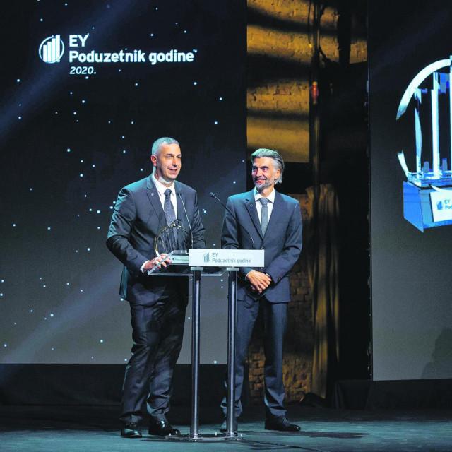 Hrvoje Balen i Mislav Balković na dodjeli nagrada za EY Poduzetnika godine