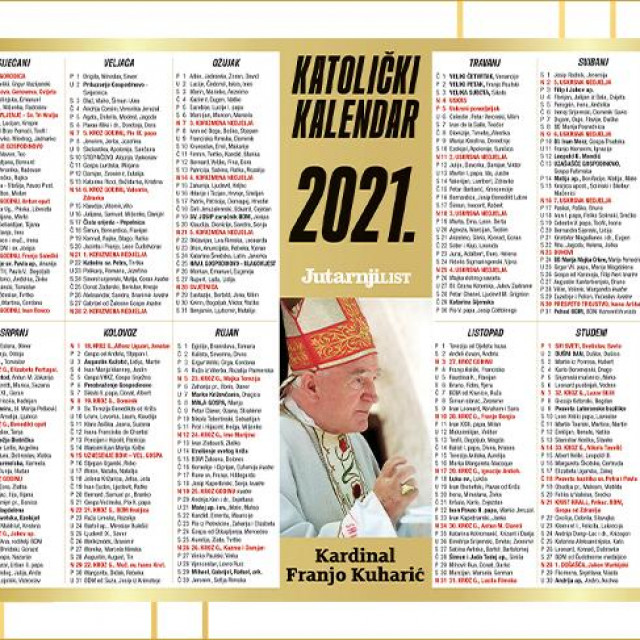 veliki katolički kalendar 2021.