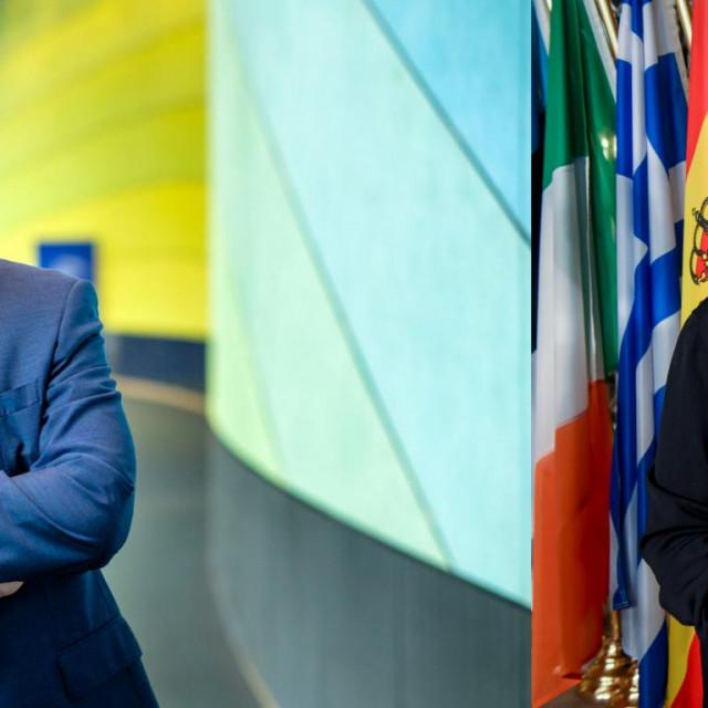 Zastupnik u Europskom parlamentu Tomislav Sokol (L) i potpredsjednica Komisije Dubravka Šuica