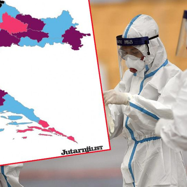 Ilustracija, testiranje i korona-karta Hrvatske