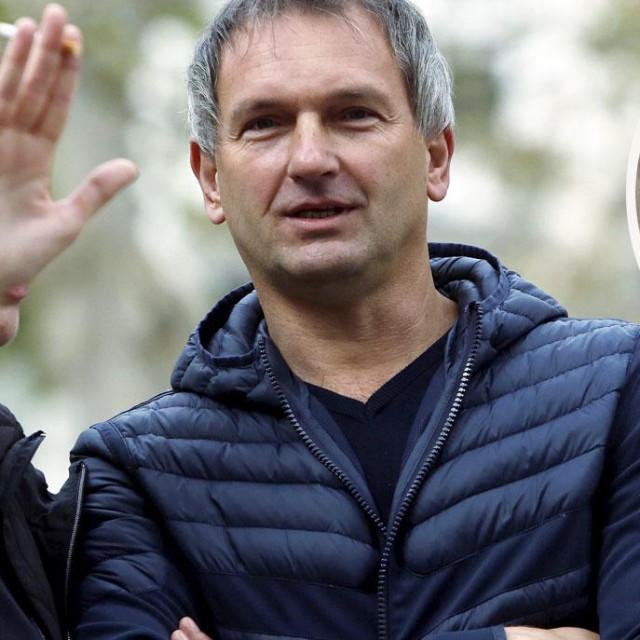 Željko Dolački i obijeni sef snimljen nakon očevida početkom travnja 2016. godine u Heinzelovoj ulici