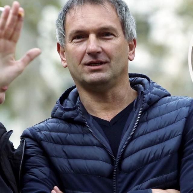 Željko Dolački i obijeni sef šefa krim policije Željka Dolačkog snimljen nakon očevida početkom travnja 2016. godine u Heinzelovoj ulici