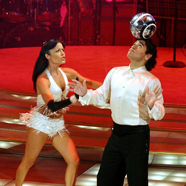 Maradona u TV showu 'Ples sa zvijezdama' u Rimu 2005. godine
