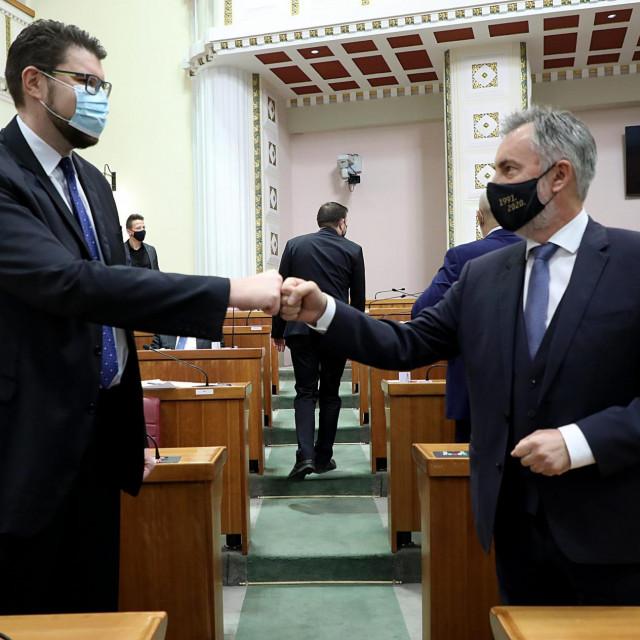 Peđa Grbin i Miroslav Škoro