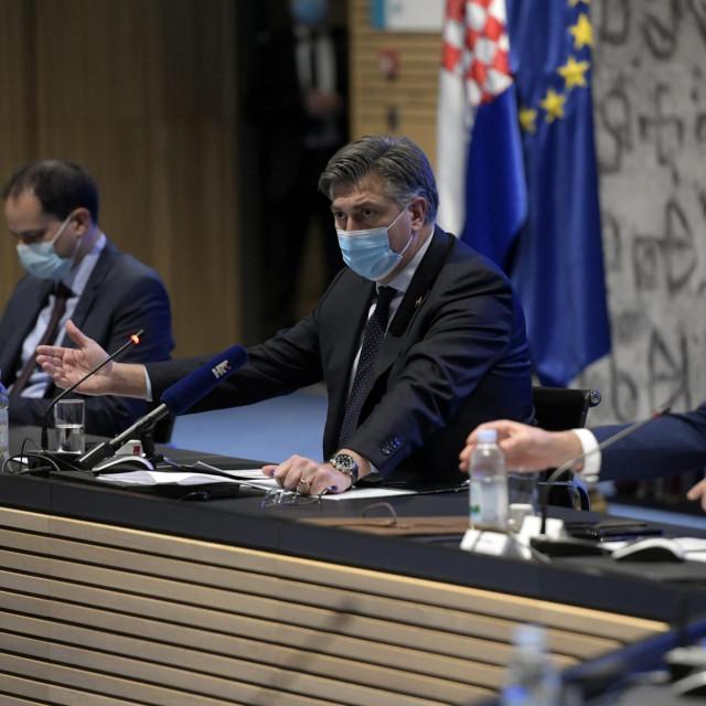 Ivan Malenica, Andrej Plenković, Josip Aladrović<br />