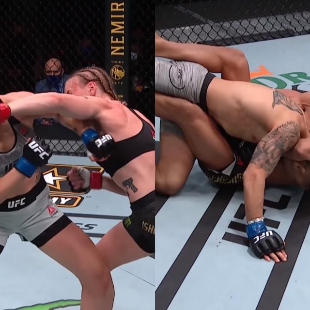 UFC 255 fight motion