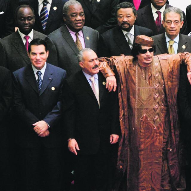 Moamer Gadafi i Hosni Mubarak