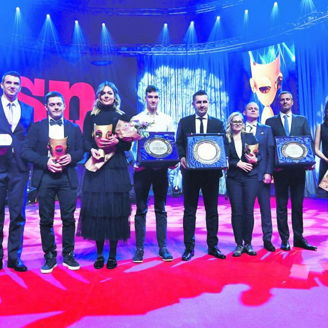 Prošlogodišnji laureati na 68. izboru sportaša godine u organizaciji Sportskih novosti.