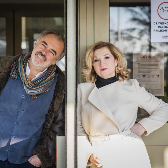 Drazen Siriščević, ravnatelj koncertne dvorane Lisinski i novinarka Mirjana Dugandžija<br />