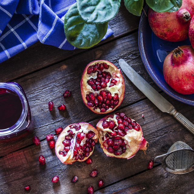 Računa se da jedan nar zadovoljava oko 16 posto dnevnih potreba za vitaminom C