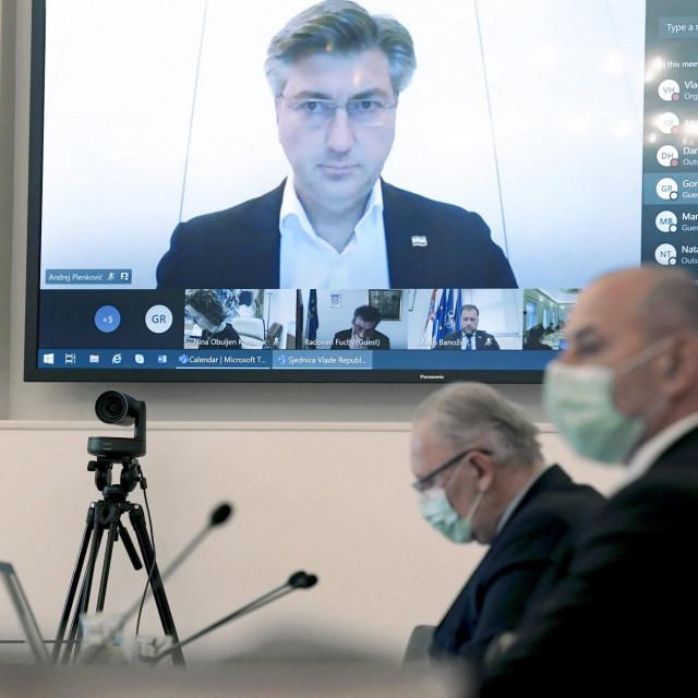 Sjednica Vlade RH u Banskim dvorima, Andrej Plenković