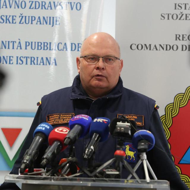 Načelnik istarskog stožera civilne zaštite Dino Kozlevac