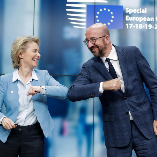 Predsjednica Europske komisije Ursula von der Leyen i predsjednik Europskog vijeća Charles Michel