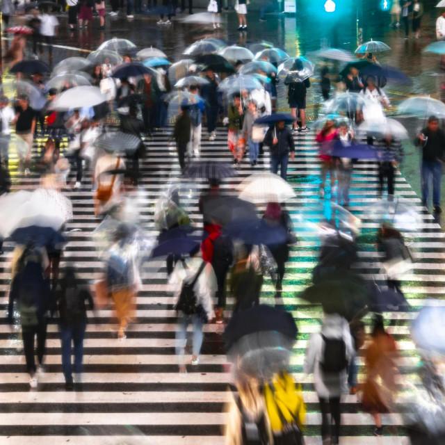 Ulica u Tokiju, ilustracija
