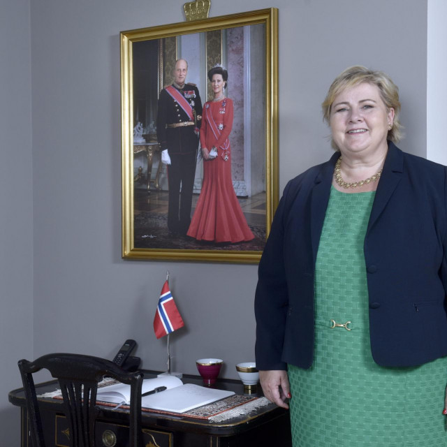 Norveška premijerka Erna Solberg tijekom posjeta Zagrebu / arhiva