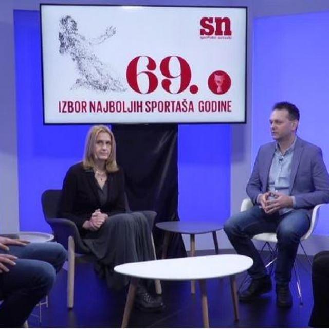 Slijeva nadesno: Darko Antunović, Danira Nakić, Robert Šola i Vlatka Mihoci u studiju Hanza Medije