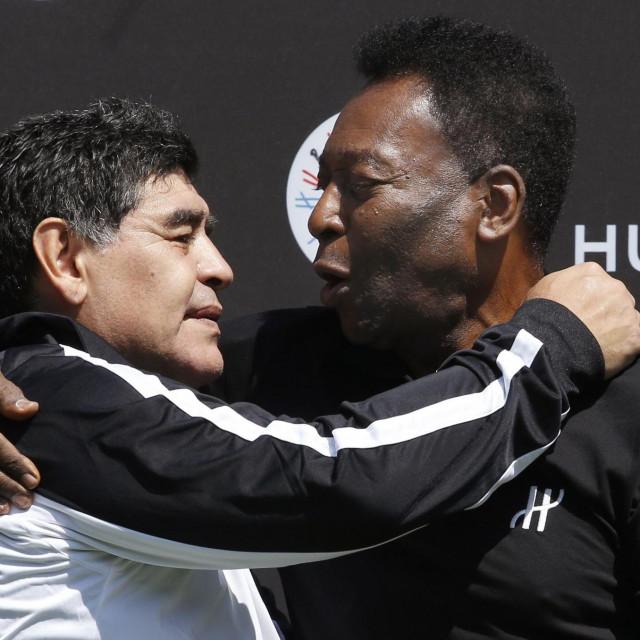 Pele i Maradona prije četiri godine