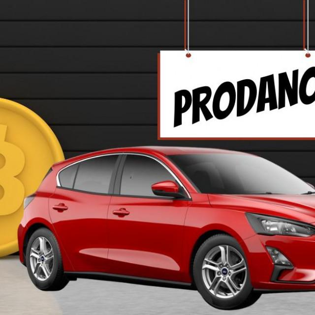Auto prodan za Bitcoin