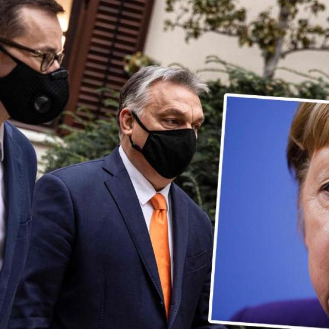 Viktor Orban, Mateusz Morawiecki, Angela Merkel