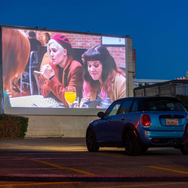 Drive-in kino; ilustracija