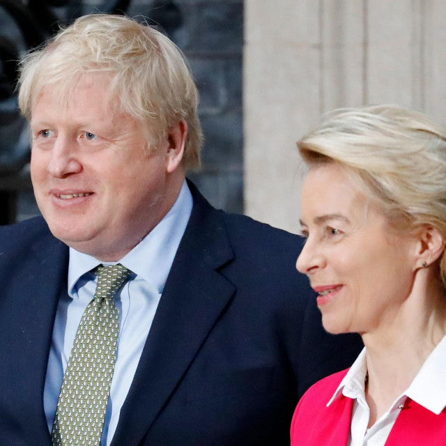 Britanski premijer Boris Johnson i šefica Europske komisije Ursula von der Leyen
