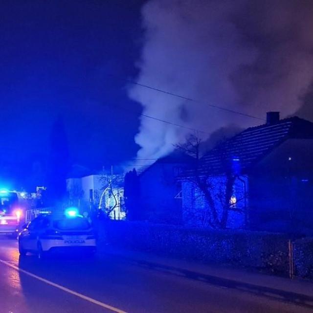 Požar obiteljske kuće u Krapini