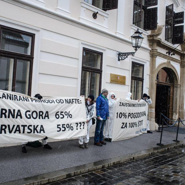 Prosvjednici Zelene akcije ispred Vlade, arhivska fotografija