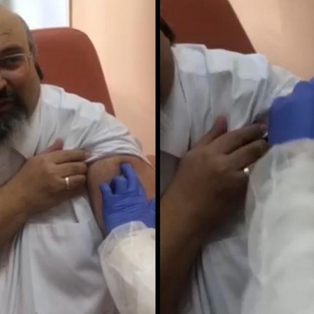 Dr. Sergej Boljević prima cjepivo Sputnik V