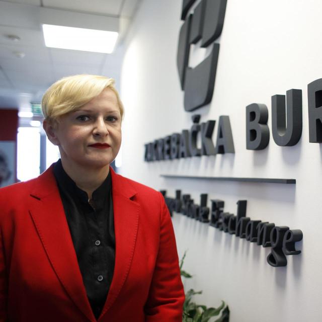 Ivana Gažić, predsjednica Uprave Zagrebacke burze<br />
