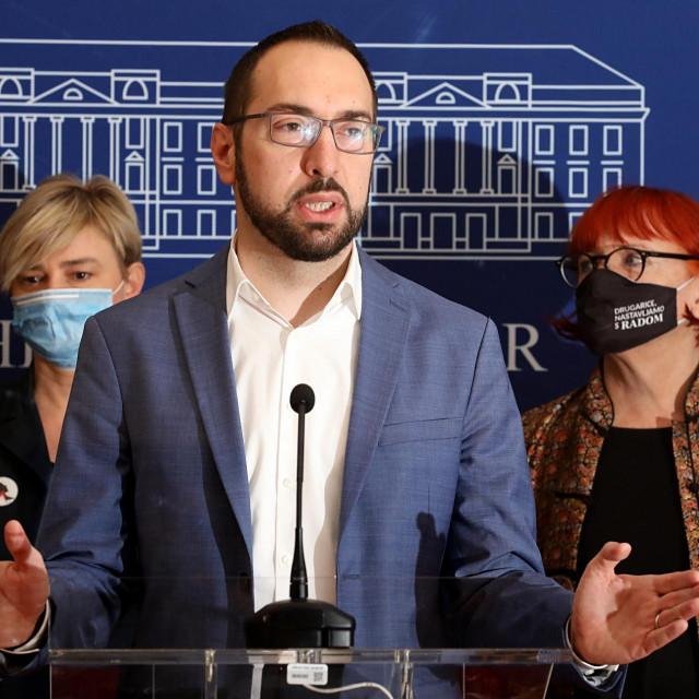 Tomislav Tomašević, Rada Borić, Sandra Benčić