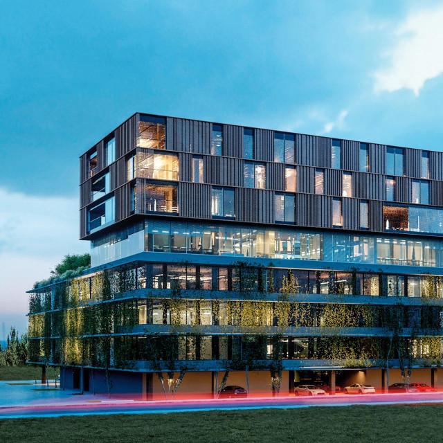 Infobipov kampus dovršava se u Svetoj Klari.<br /> Zgrada je oblikovana tzv. stackingom: prostori različite namjene složeni su jedni na druge po visini: parkiralište u prizemlju, tri etaže uredskih prostora, javna etaža s restoranom i konferencijskom dvoranom te tri etaže sa smještajem