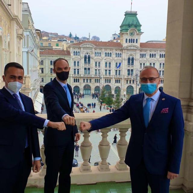 Luigi di Maio, Anže Logar i Gordan Grlić Radman