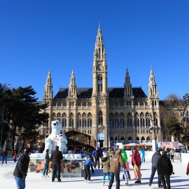 Klizalište u Beču, ilustracija