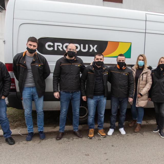 22.12.2020., Vukovar - Donacija Croduxa Socijalnoj samoposluzi Duga Photo: Davor Javorovic/PIXSELL