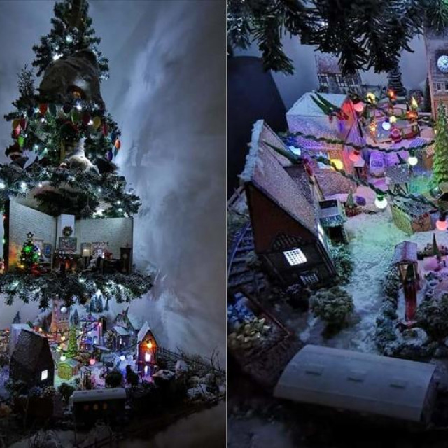 Božićni grad Kaštel Gnomešić