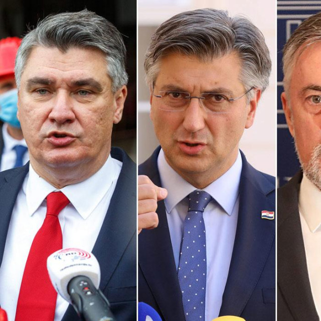 Zoran Milanović, Andrej Plenković, Miroslav Škoro, Tomislav Tomašević