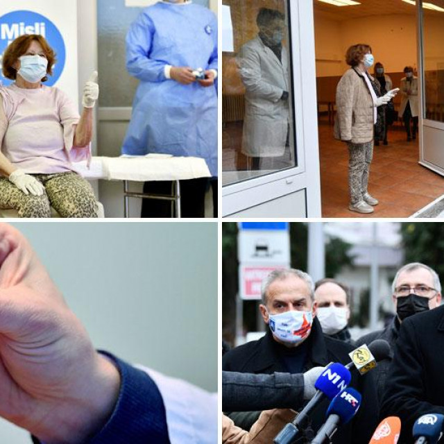 Cijepljenje u Domu za starije Trešnjevka
