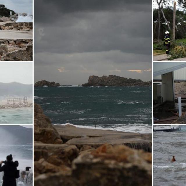 Prizori olujnog juga diljem obale
