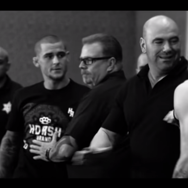 Dustin Poirier, Dana White i Conor McGregor