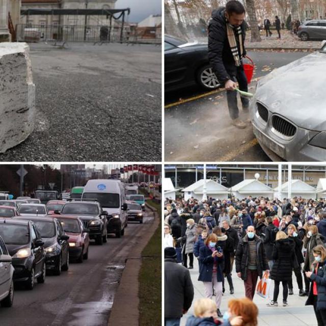 Prizori iz Zagreba nakon potresa