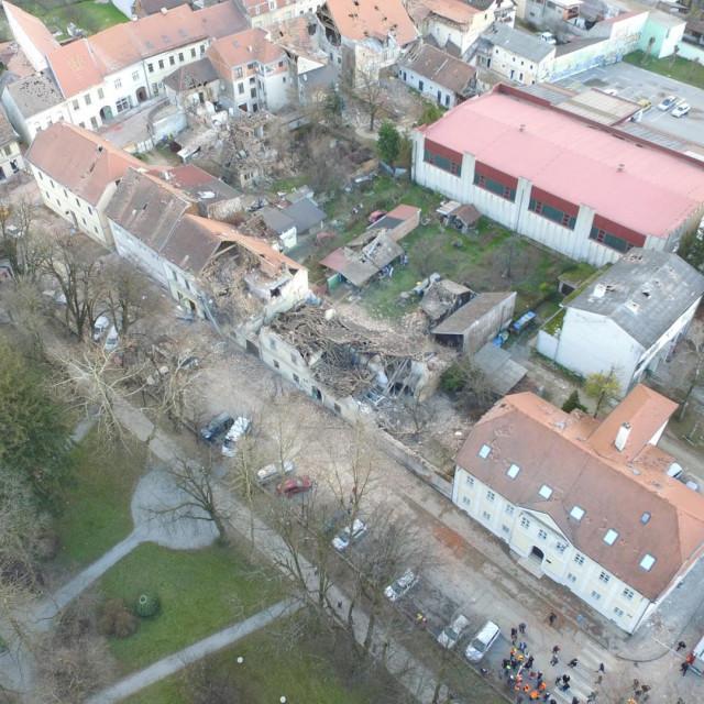 Snimke Petrinje iz zraka