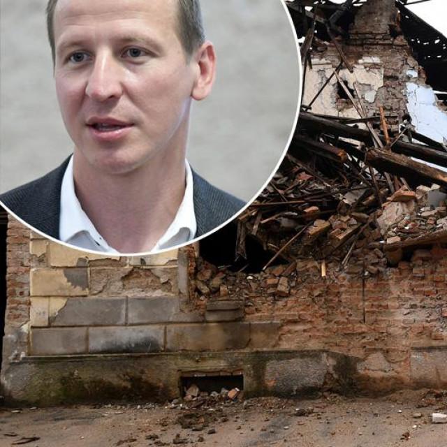 Dario Zurovec i prizor iz Petrinje nakon potresa