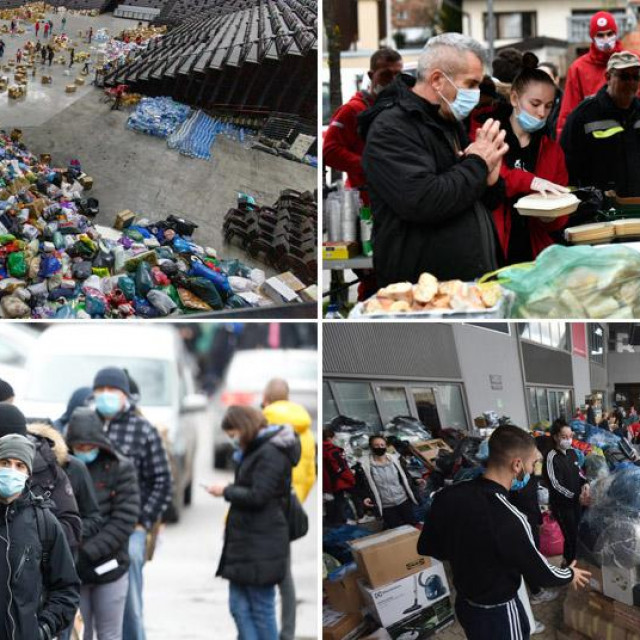 Pomoć za potresom pogođena područja prikuplja se diljem zemlje, chefovi su u Petrinji kuhali za ljude koji su ostali bez domova, u Zagrebu i drugim gradovima čekalo se u redovima za darivanje krvi....