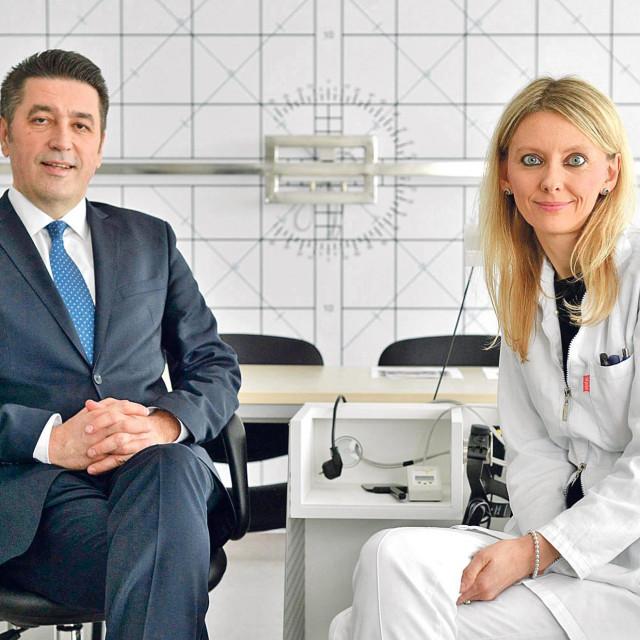 Prof. dr. Mladen Bušić, ravnatelj Kliničke bolnice Sveti Duh, iprof. Mirjana Bjeloš,direktorica Suradnog centra SZO