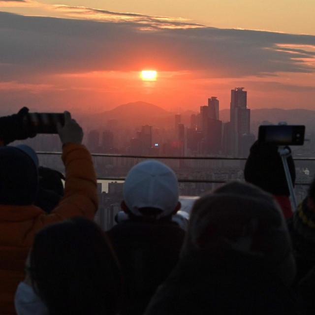 Zalazak sunca u Seoulu