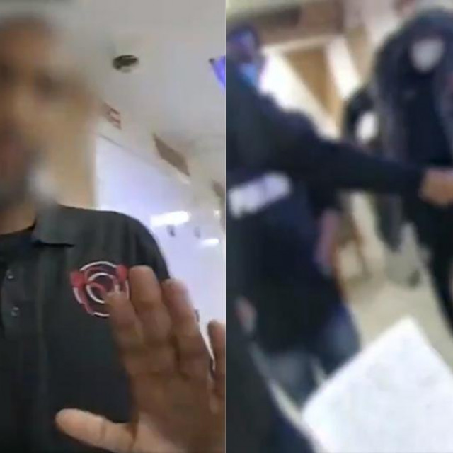 Kadrovi iz snimke upada policije na ilegalnu partiju domina u Londonu