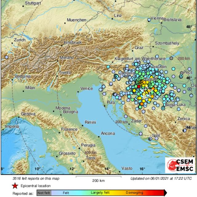 Novi potres na Baniji