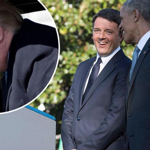 Donald Trump (u krugu), Matteo Renzi i Barack Obama (desno)